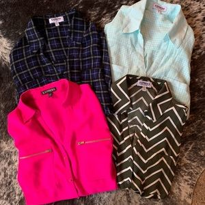 "4 Express ""Portofino"" Dress Shirts/Blouses Size M"